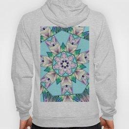 floral star mandala Hoody