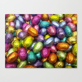 Chocolate Easter Eggs! Canvas Print
