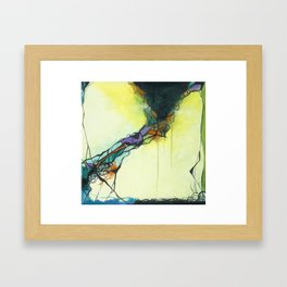Glass and Smoke  - Square Abstract Expressionism Paintng Framed Art Print
