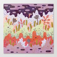 crystal Canvas Prints featuring Crystal Forest by LordofMasks