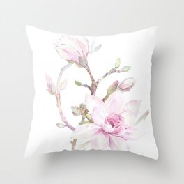 Magnolia Dream Throw Pillow