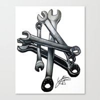 tool Canvas Prints featuring Tool by LewisLeathers