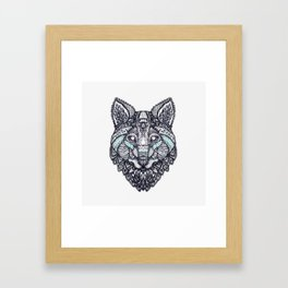 Psychedelic Wolf Framed Art Print