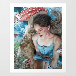 Alice in Wonderland, Portrait of Alice Art Print