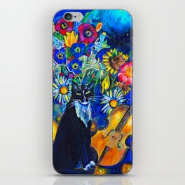 Cat and String Instruments iPhone Skin