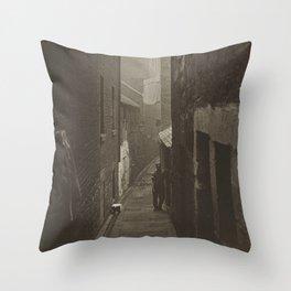 The Slums of Glasgow by Thomas Annan, 1800s Throw Pillow