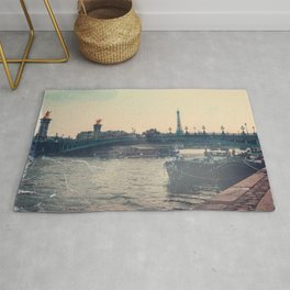 The Seine and Eiffel Tower, Vintage Styled Rug