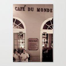 Cafe duMonde. Canvas Print