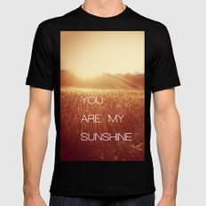 You Are my Sunshine Black LARGE Mens Fitted Tee