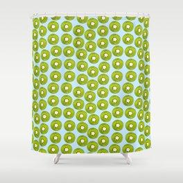 Kiwi Print - Blue BG Shower Curtain