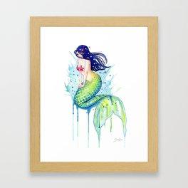 Mermaid Splash Framed Art Print