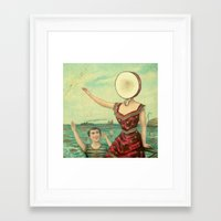 neutral milk hotel Framed Art Prints featuring Neutral Milk Hotel - In The Aeroplane Over The Sea by NICEALB