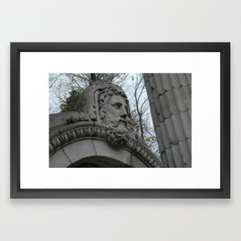 He's watching you. Framed Art Print