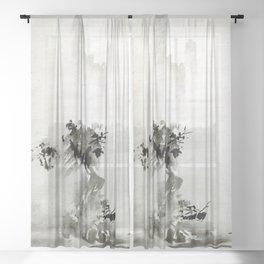 Sesshu Toyo Haboku-Sansui Landscape Sheer Curtain