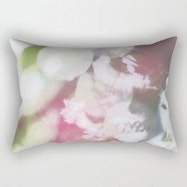 Pink/ Green Abstract Rectangular Pillow
