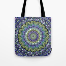 Purple n' Green Machine - Mandala Art Tote Bag