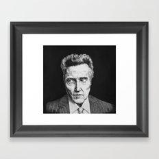 Portrait of Christopher Walken Framed Art Print