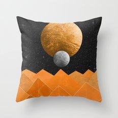 The Orange Planet Throw Pillow