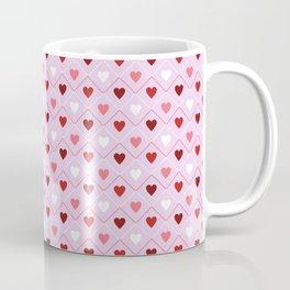Valentines - Pink Heart Pattern Coffee Mug