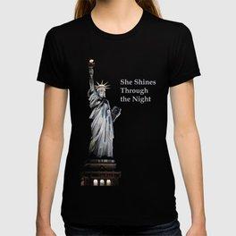 She Shines Through the Night 2 T-shirt