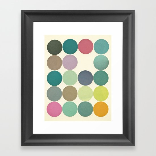 Circles I Framed Art Print