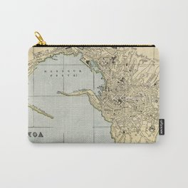 Vintage Map of Genoa Italy (1901) Carry-All Pouch
