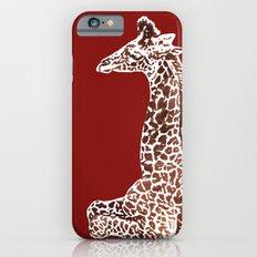 Giraffe in Red Slim Case iPhone 6s