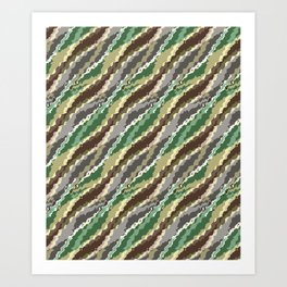 Abstract camouflage pattern. Art Print
