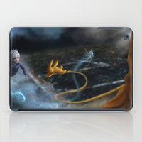 sandman iPad Cases featuring Jack Frost and Sandman by Luz Tapia Art