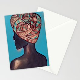 Decorative Headwrap Stationery Cards