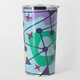 Mid Century Modern Abstract Pattern 384 Travel Mug