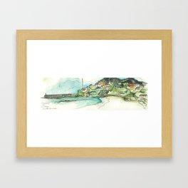 Camino Finisterre - Playa Langosteira Framed Art Print