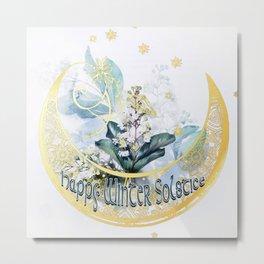 Happy Winter Solstice Metal Print