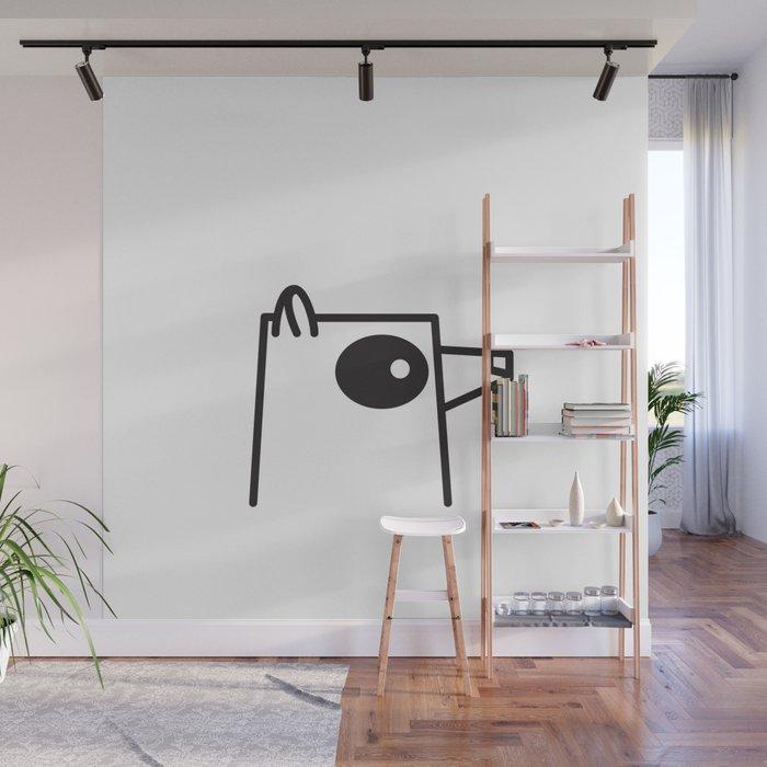 Minimalist Raccoon Wall Mural