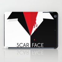 scarface iPad Cases featuring Scarface Minimalist Movie Poster by LoweakGraph