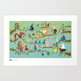 Just for the Birds. Art Print
