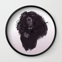 hermione Wall Clocks featuring Hermione by Alexander Scott