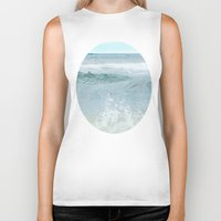salt water Biker Tanks featuring Salt Water for the Soul by Bella Blue Photography