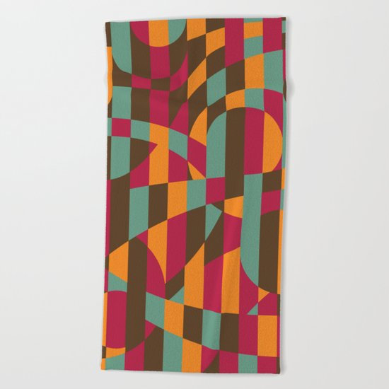 Abstract Graphic Art - Roller Coaster Beach Towel