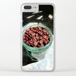 Coffee Beans in Manson Jar Clear iPhone Case
