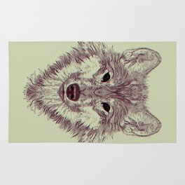 Gaze of the Wolf Rug
