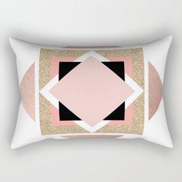 Carré rose Rectangular Pillow