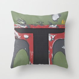 BOBA FETT BOXHEAD Throw Pillow