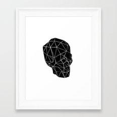 Space Skull Framed Art Print