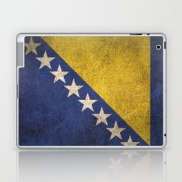 Old and Worn Distressed Vintage Flag of Bosnia - Herzegovina Laptop & iPad Skin