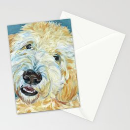 Stanley the Goldendoodle Dog Portrait Stationery Cards
