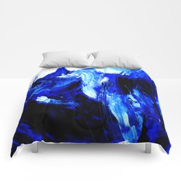 Dancing In Blue No. 1 by Kathy Morton Stanion Comforters