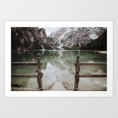 The Calm Mountain Waters Art Print
