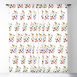 Christmas doodle pattern Blackout Curtain