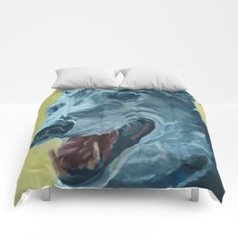 Dilly the Greyhound Portrait Comforters